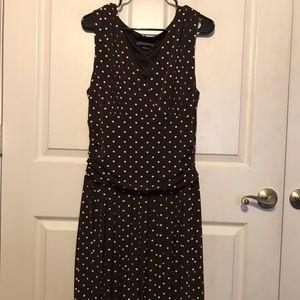 New Jessica Howard Brown/ White Polka Dot Dress